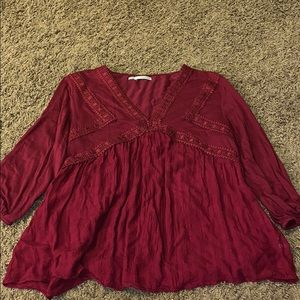 Maurices wine colored top